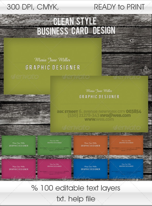 Card with Unlimited Color Variations - Creative Business Cards