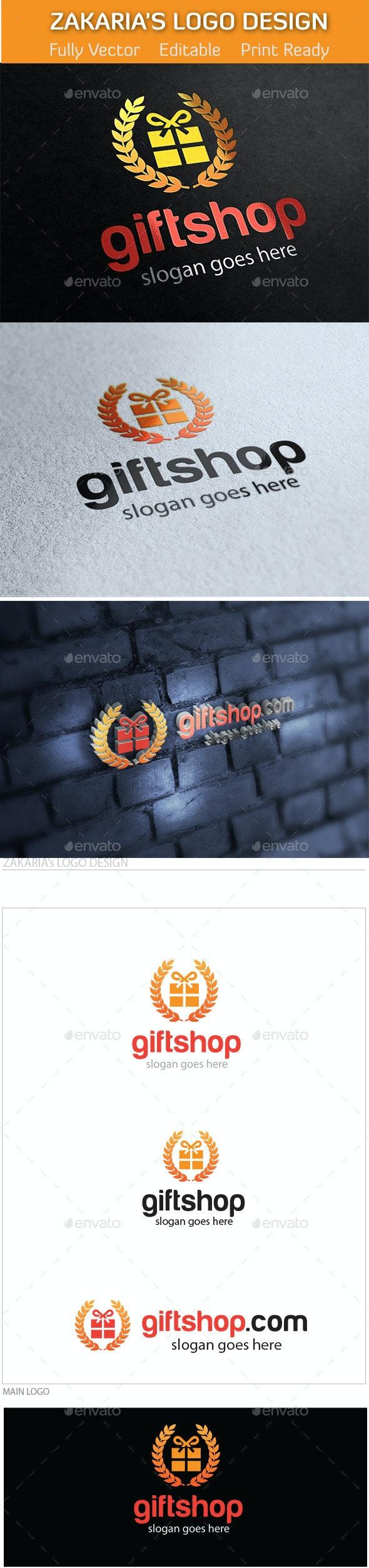 Gift Shop Online Market Logo - Objects Logo Templates