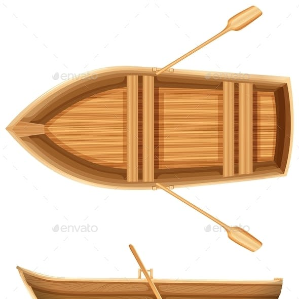 Top and Side View of a Boat