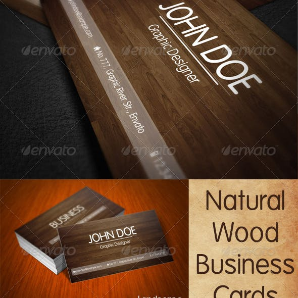 Nature Wood Business Card