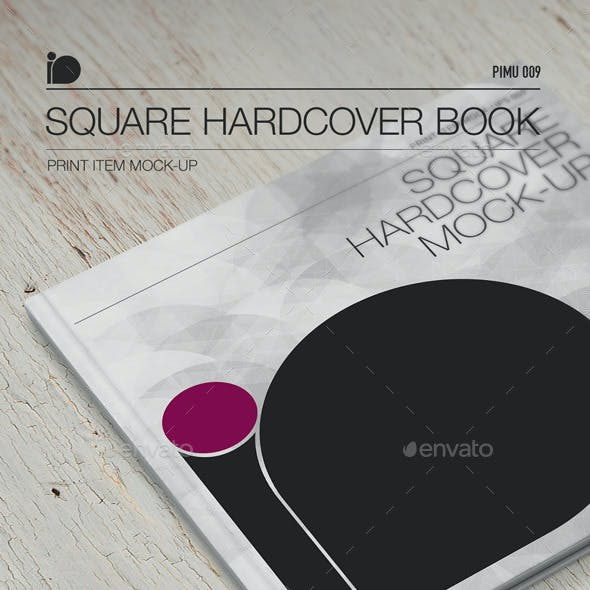 Mock-Up • Square Hardcover Book