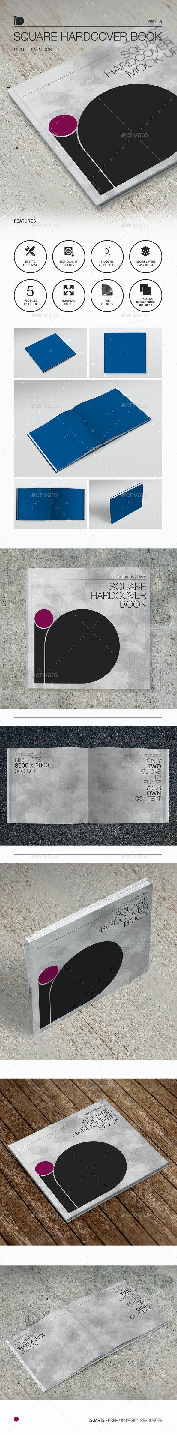 Mock-Up • Square Hardcover Book - Books Print