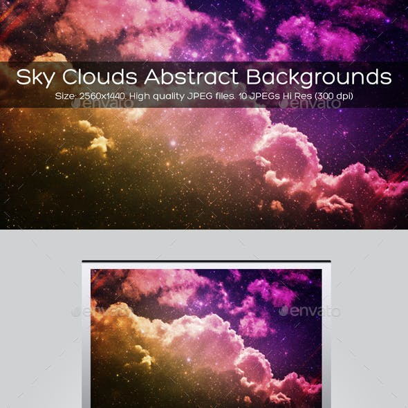 Sky Clouds Abstract Backgrounds