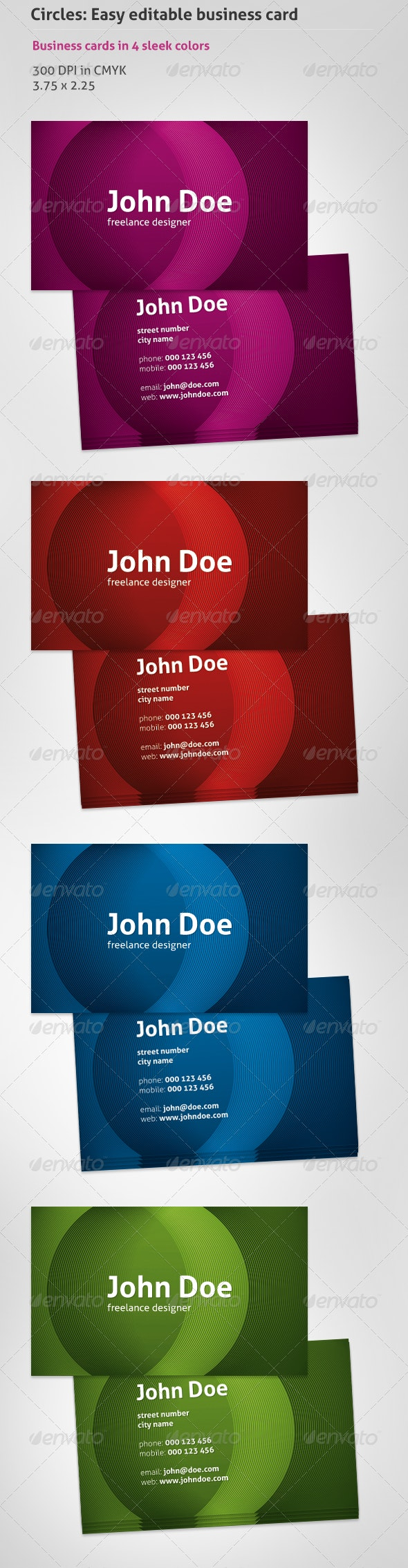 Circles: Business Cards Template - Creative Business Cards