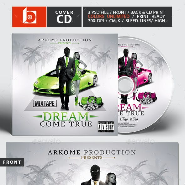 Dream Mixtape | Psd CD Cover Template