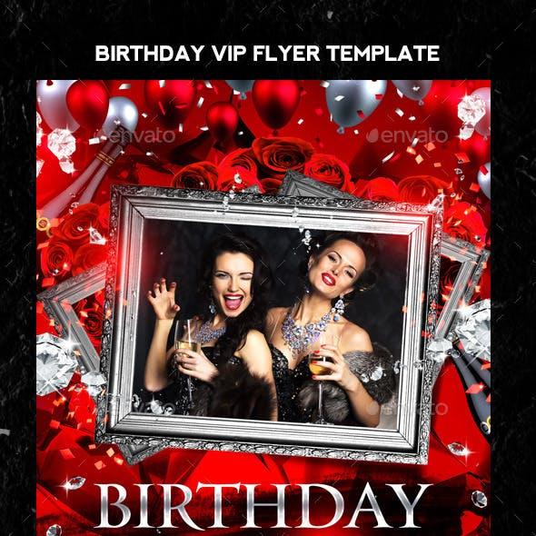 Birthday VIP Flyer