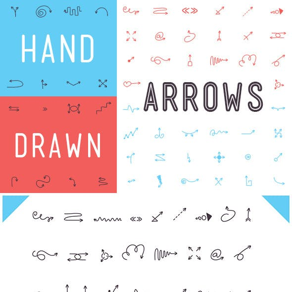 Hand Drawn Arrows Font