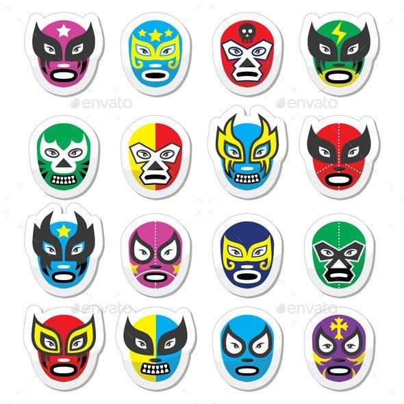 Lucha Libre Mexican Wrestling Masks