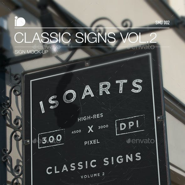 Sign Mock-Up • Classic Signs Vol.2