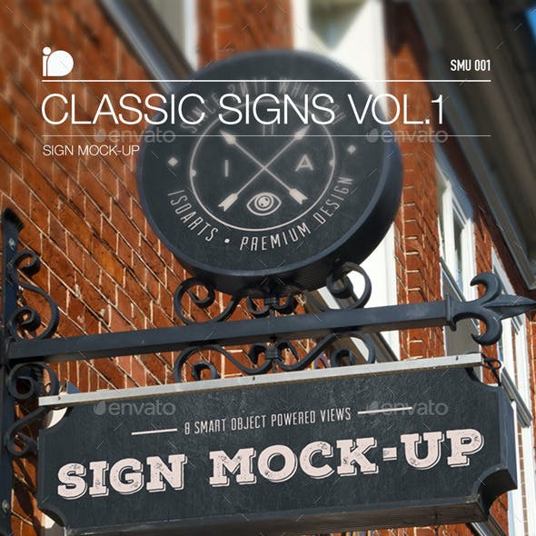 Sign Mock-Up • Classic Signs Vol.1