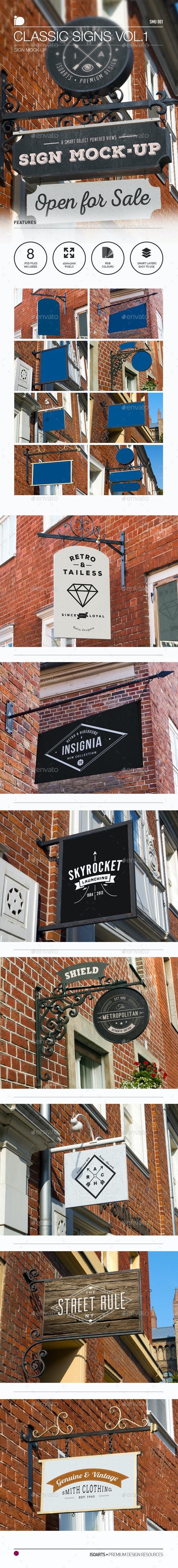 Sign Mock-Up • Classic Signs Vol.1 - Signage Print