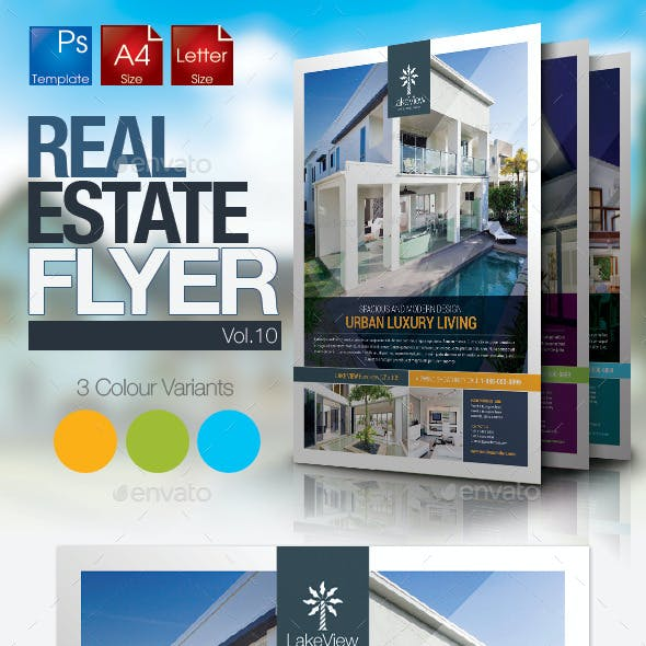 Simple Real Estate Flyer Vol.10