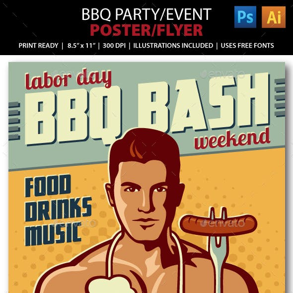 BBQ Party/ Event Poster or Flyer