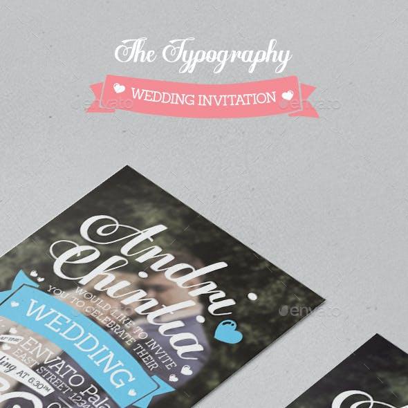 The Typography Wedding Invitation