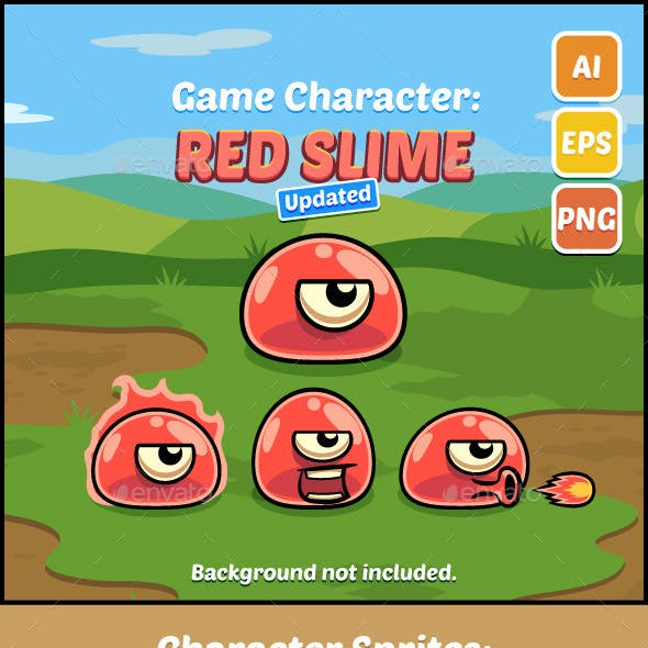 Game Character Red Slime