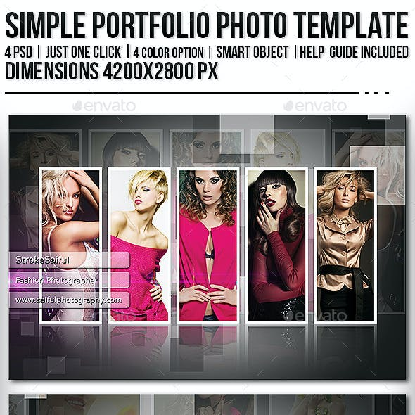 Simple Portfolio Photo Template