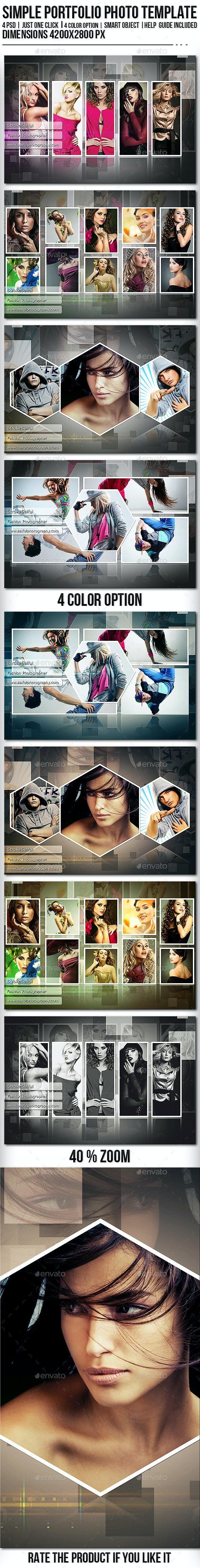 Simple Portfolio Photo Template - Photo Templates Graphics