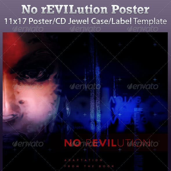No Revolution Poster and CD Jewel Case Template