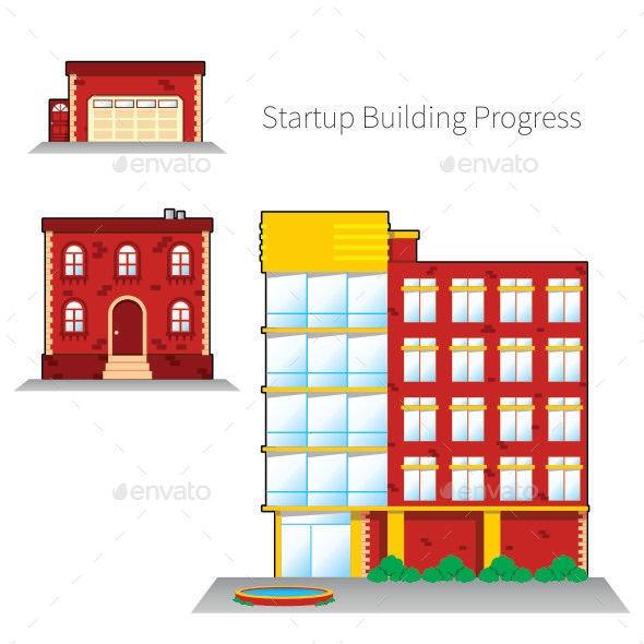 Startup Building Progress - Buildings Objects