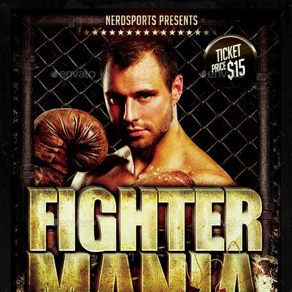 Fighter Mania Sports Flyer