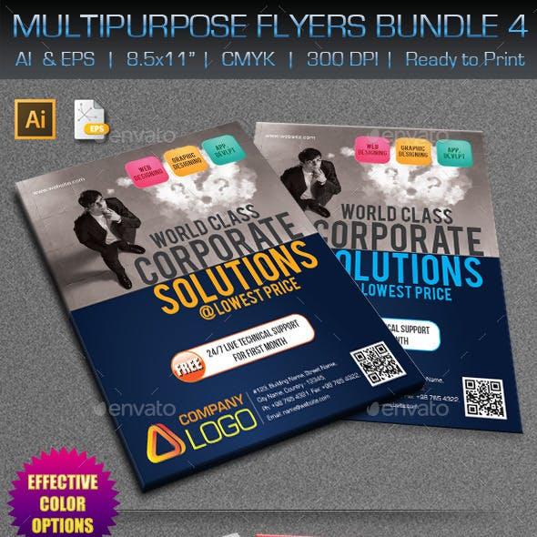 Creative Multipurpose Flyers Bundle 4