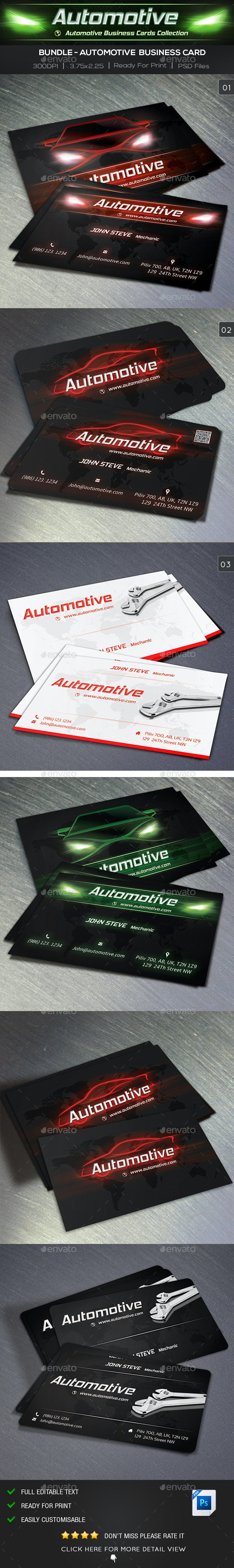 Automotive Business Card Bundle - Industry Specific Business Cards