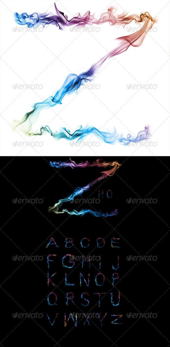 Smoke Alphabet - Decorative Graphics