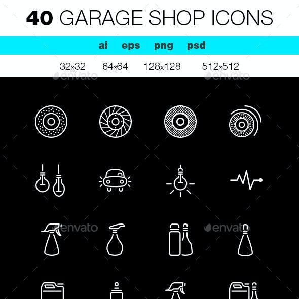 Garage Shop Icons