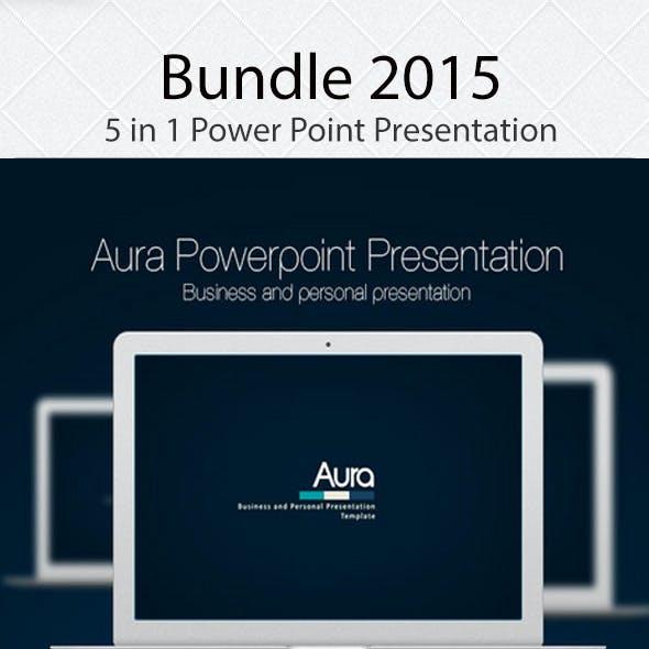 Bundle 2015, 5 in 1 Power Point Presentation