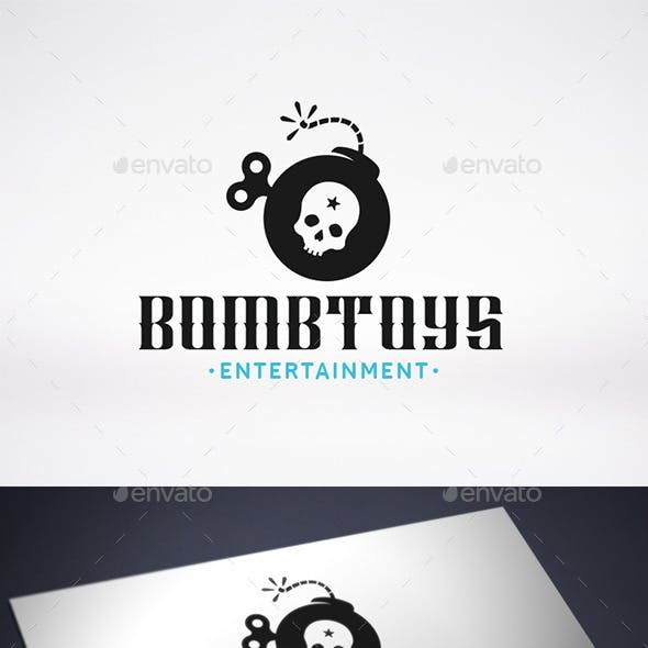 Bomb Toy Logo Template