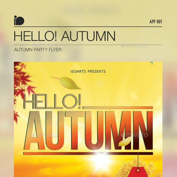 Autumn Party Flyer • Hello! Autumn