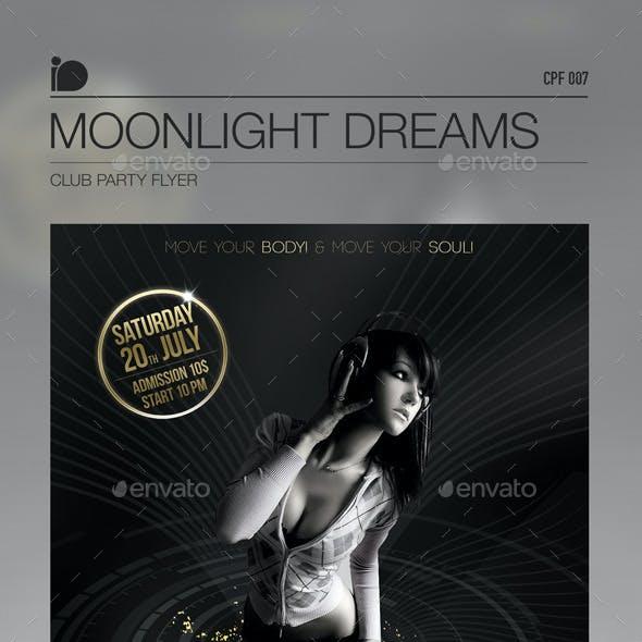 Club Party Flyer • Moonlight Dreams