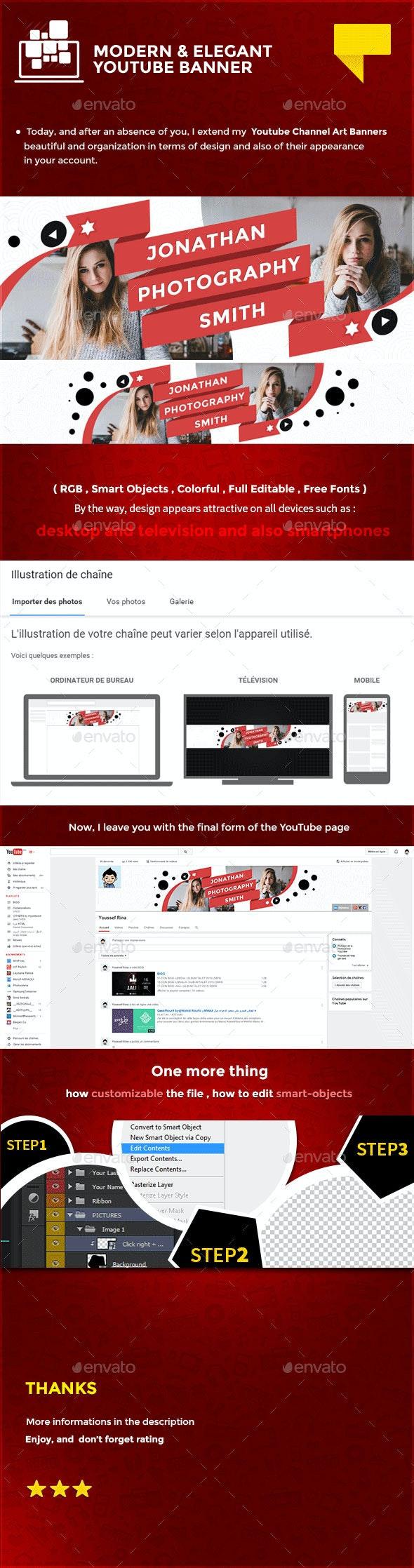 Creative Youtube Banner - YouTube Social Media