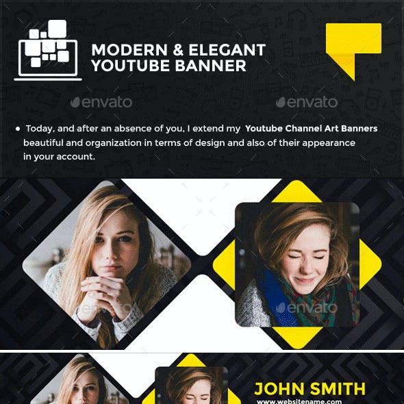 Clean Elegant Youtube Banner