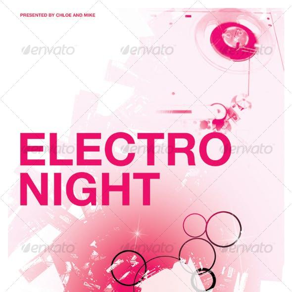 ELECTRO TECHNO POSTER/FLYER