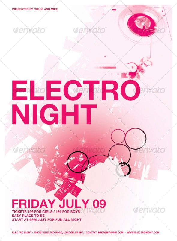 ELECTRO TECHNO POSTER/FLYER - Clubs & Parties Events