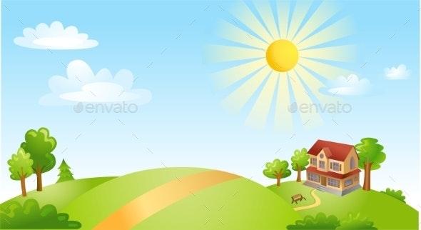 Landscape with House  - Landscapes Nature