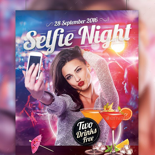Selfie Night Party Flyer Template