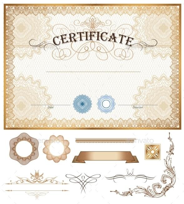 Certificate - Borders Decorative