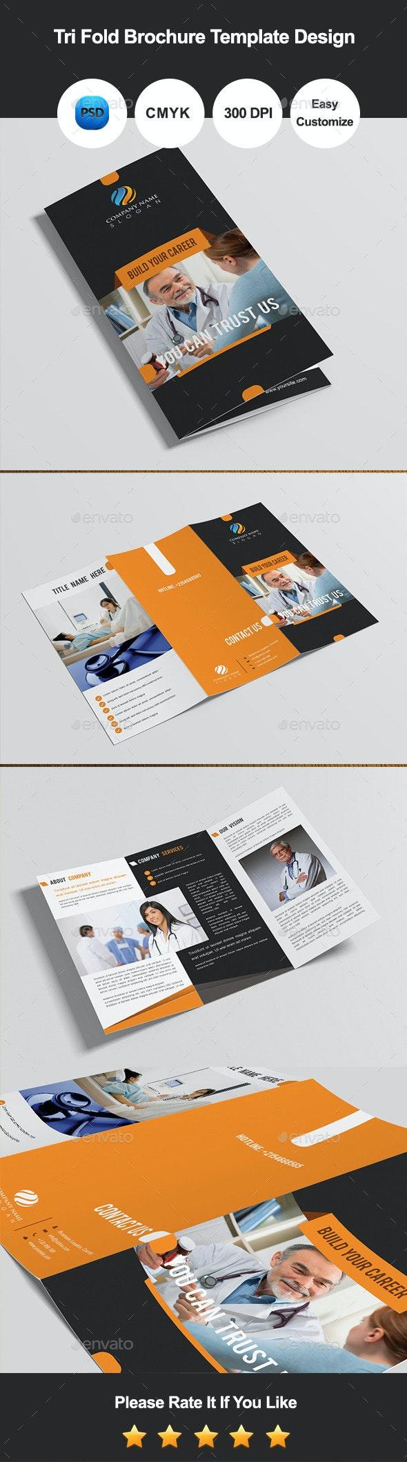 Tri Fold Brochure Template Design - Corporate Brochures