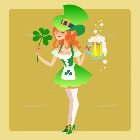 St. Patrick Day Girl