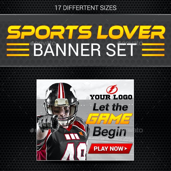 Sports Lover Banner Set