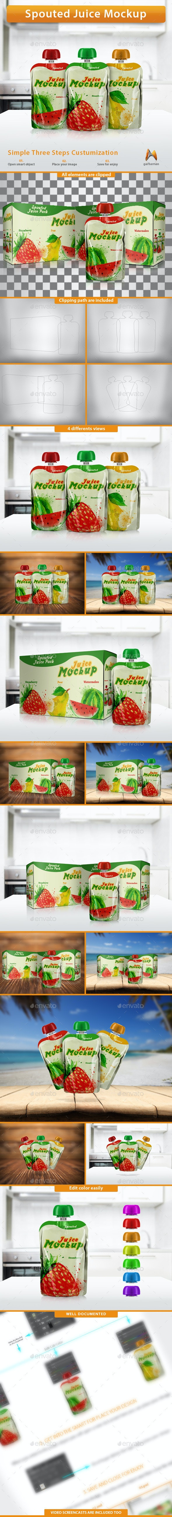 Spouted Juice Mockup - Product Mock-Ups Graphics