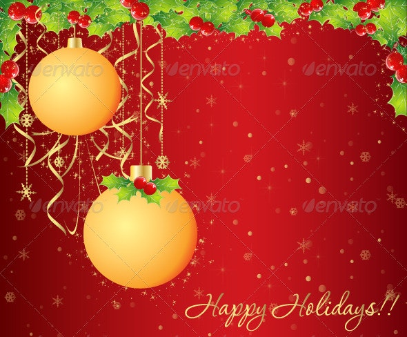 Happy Holidays - Vector Background - Seasons/Holidays Conceptual