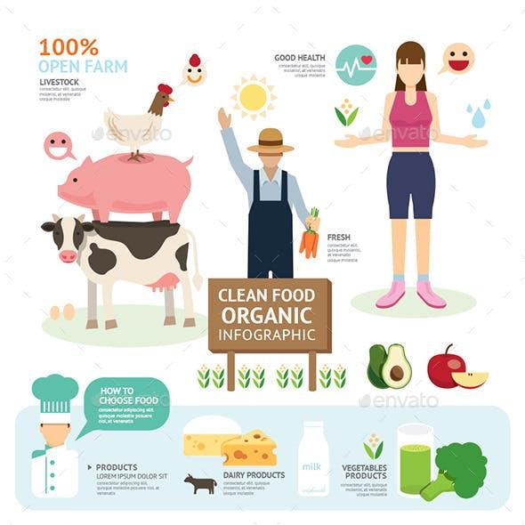 Organic Clean Foods Good Health Template Design