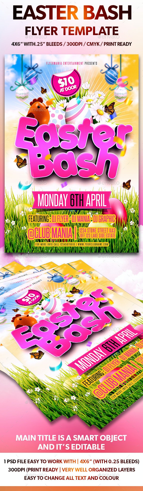 Easter Bash Flyer Template - Flyers Print Templates
