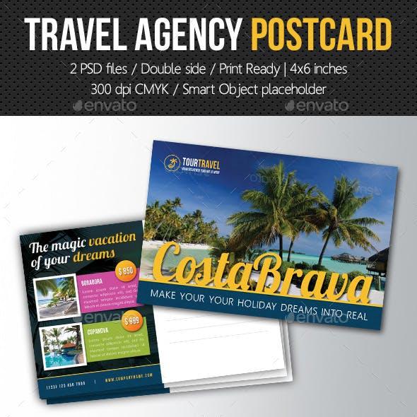 Travel Agency Postcard Template V02