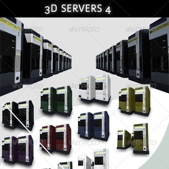 3D Servers - Pack 4 - 7 Colors