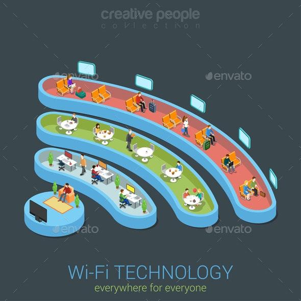 Public Wi-Fi Zone Wireless  - Communications Technology