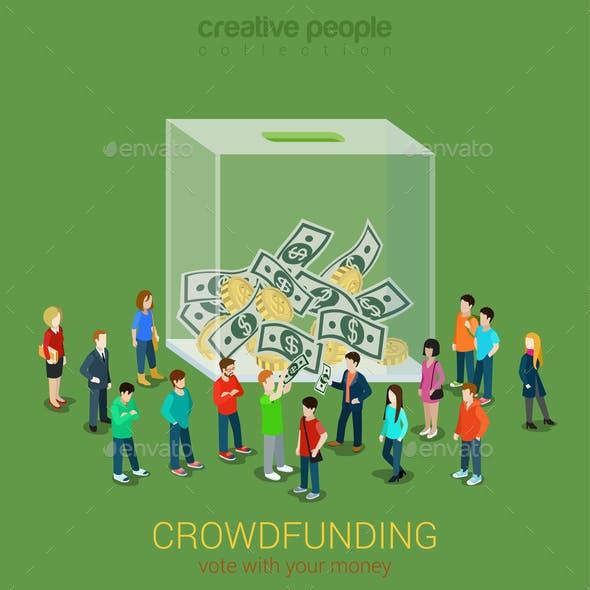 Business Idea Crowdfunding Volunteer Concept